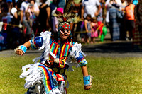 Young man dancer with full regalia.