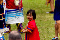 Little girl attending the Pow Wow.